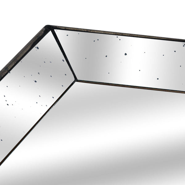 Gloria Distressed Large Square Mirrored Tray-I Love Retro