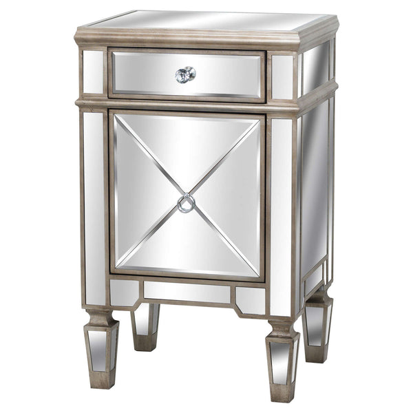 Altinum Venetian Mirrored Bedside Cabinet-I Love Retro