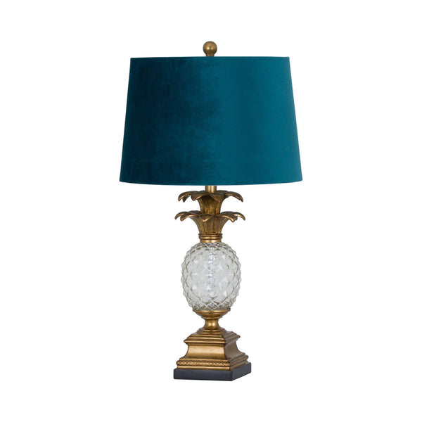 Hannah Glass Pineapple Table Lamp-I Love Retro