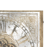 Jack Detailed Exposed Mechanism Square Wall Clock-I Love Retro