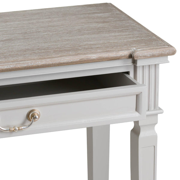 Odette Long Two Drawer Shelf Console Table-I Love Retro