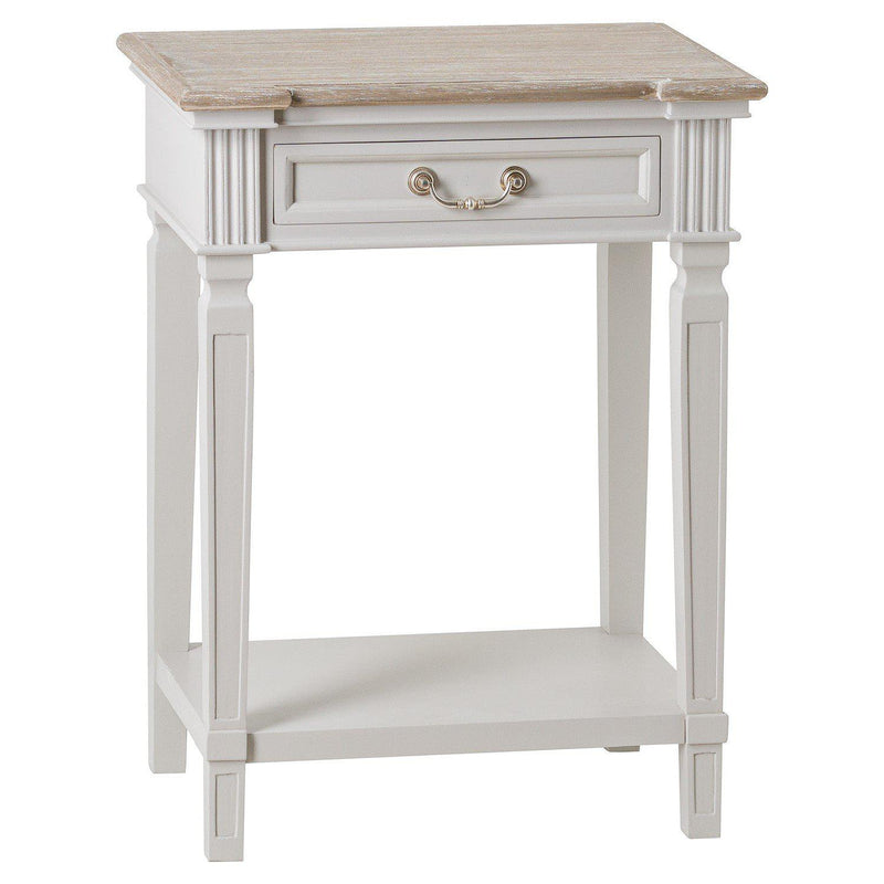 Odette One Drawer Shelf Side Table-I Love Retro