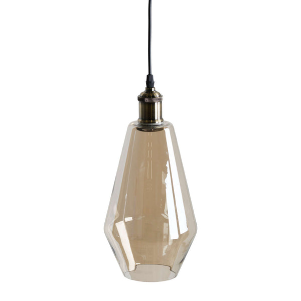 Factrum Smoked Glass Teardrop Ceiling Light-I Love Retro