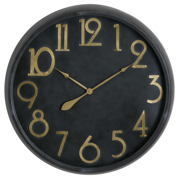 Ohso Gold and Black Wall Clock-I Love Retro