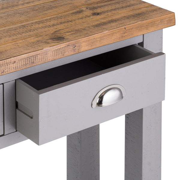 Julia Grey Two Drawer Console Table-I Love Retro