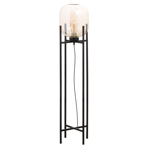 Harry Glass Cradle Floor Lamp-I Love Retro