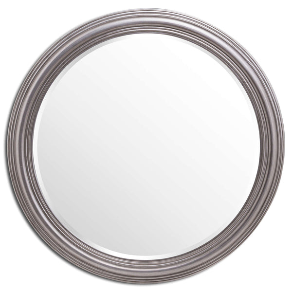Lurch Circular Silver Large Wall Mirror-I Love Retro