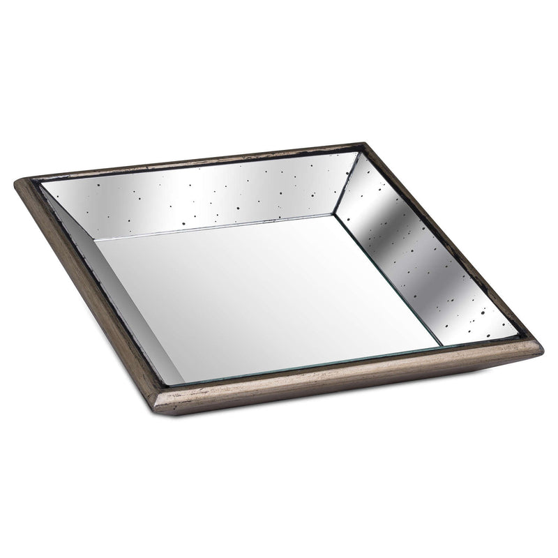 Gloria Distressed Small Square Mirrored Tray-I Love Retro