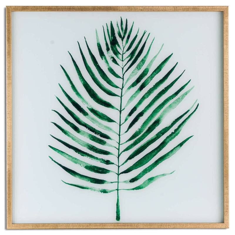 Ranmo Palm Art in Gold Frame-I Love Retro