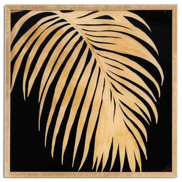Ranmo Metallic Palm Art in Gold Frame-I Love Retro