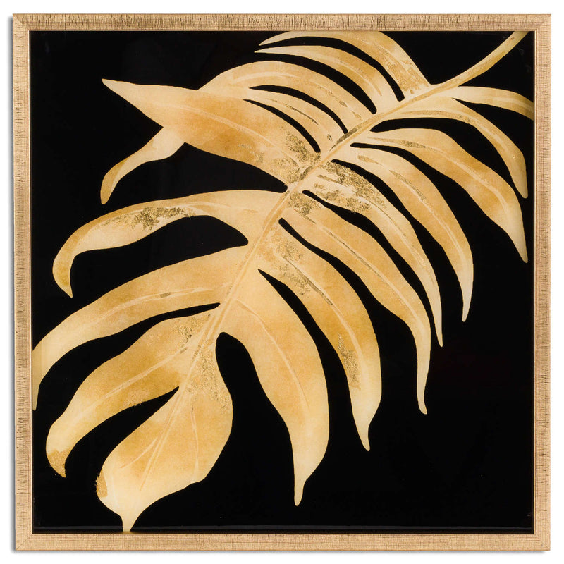 Ranmo Metallic Leaf Art Gold Framed-I Love Retro