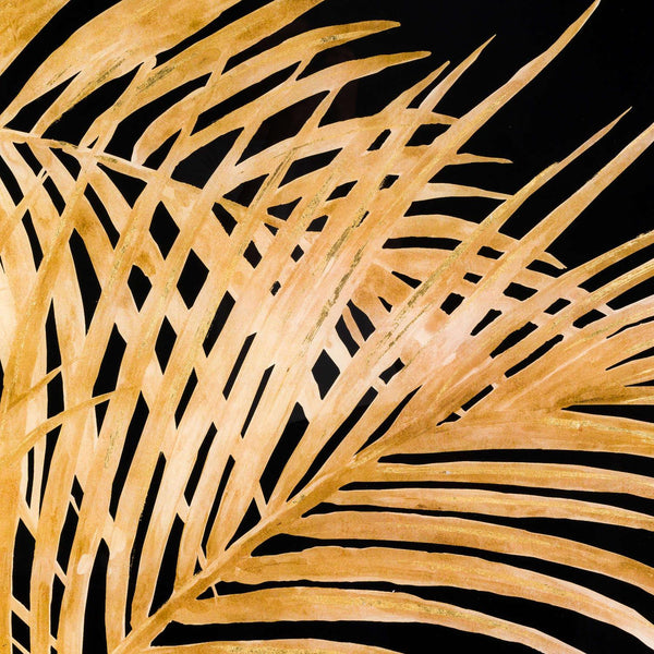 Ranmo Large Metallic Palm Art Gold Framed-I Love Retro