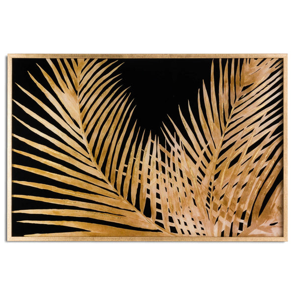 Ranmo Large Metallic Palm Plant Art Gold Framed-I Love Retro