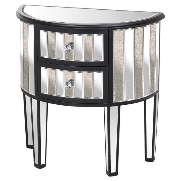 Mayfair Two Drawer Semicircle Side Table-I Love Retro