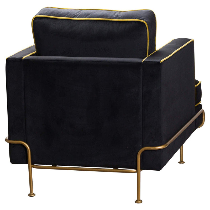 Lola Velvet Pipe Armchair-I Love Retro