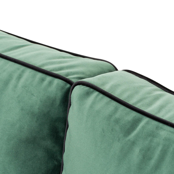 Lola Pipe Velvet Two Seater Sofa-I Love Retro