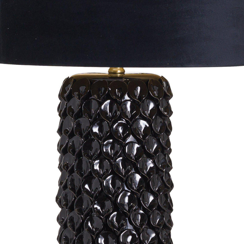 Frank Black Petal Table Lamp-I Love Retro