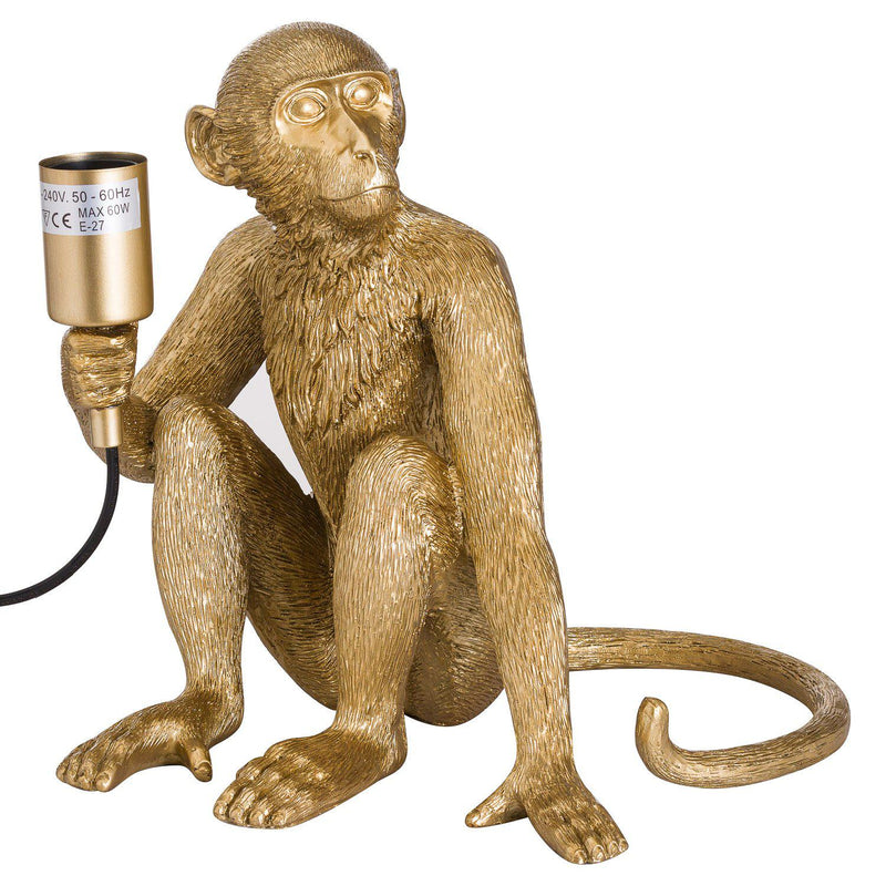 Charles The Monkey Gold Table Lamp-I Love Retro