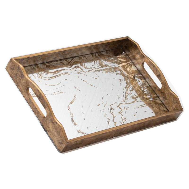 Gladior Large Marbled Mirror Tray-I Love Retro