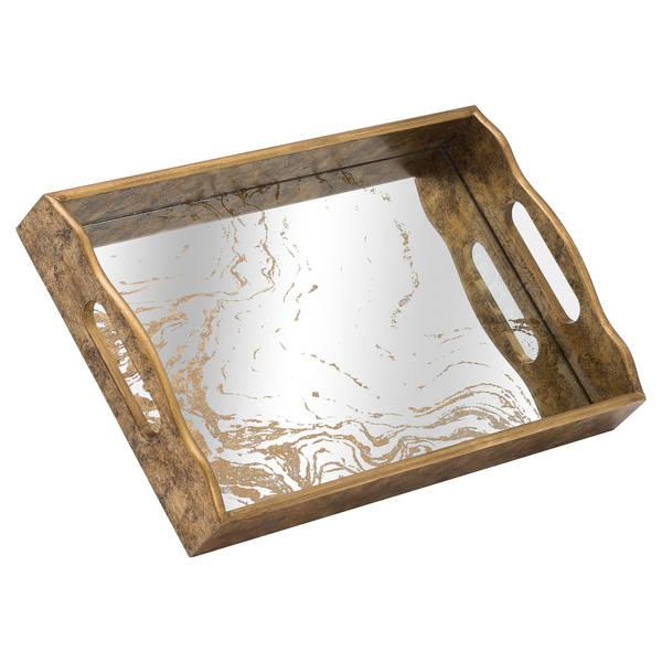 Gladior Marbled Mirror Tray-I Love Retro