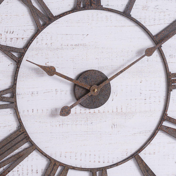 Timper Rustic Wooden Wall Clock with Aged Numerals-I Love Retro