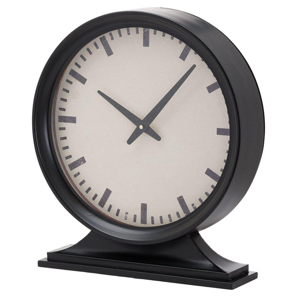 Station Black Mantel Clock-I Love Retro