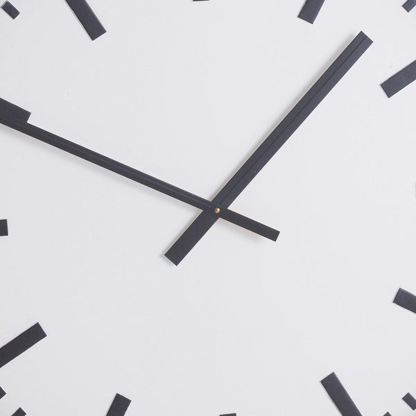 Station Black Wall Clock-I Love Retro
