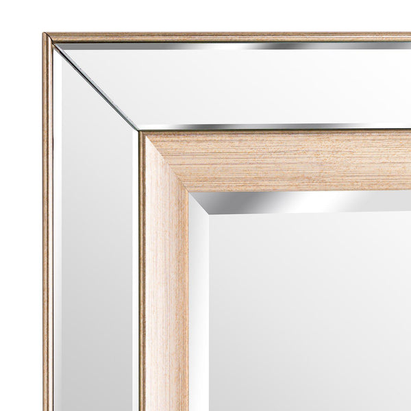 Poynter Brass Inlay Mirror-I Love Retro