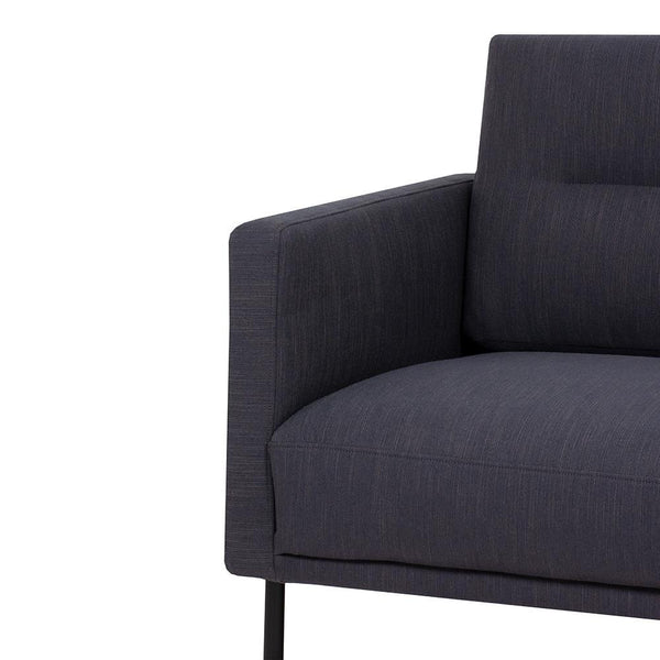 Bergen Wide Two Seater Nordic Sofa Black Legs-I Love Retro