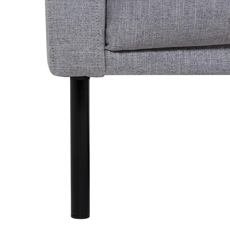 Bergen Large L Shaped (RH) Nordic Sofa Black Legs-I Love Retro