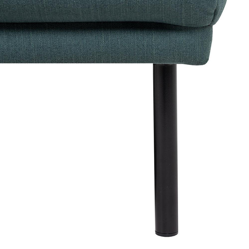 Bergen Large L Shaped (LH) Nordic Sofa Black Legs-I Love Retro