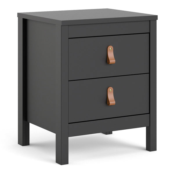 Fira Two Drawer Bedside Table-I Love Retro