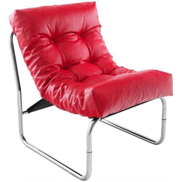 Mayer Retro Leather Button Lounge Chair-I Love Retro