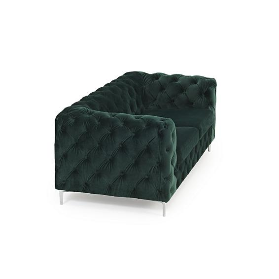 Lara Plush Button Two Seater Sofa-I Love Retro