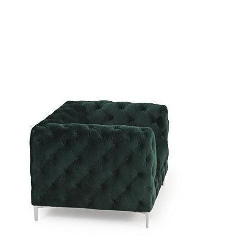 Lara Plush Button Armchair-I Love Retro