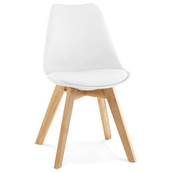 Silka Oak Leg Tulip Dining Chair-I Love Retro