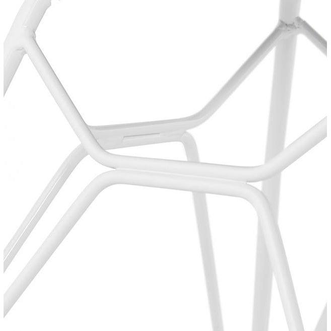 Yonka Candy Industrial White Leg Dining Chair-I Love Retro