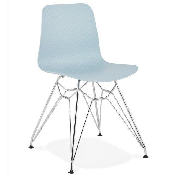 Yonka Candy Industrial Chrome Leg Dining Chair-I Love Retro
