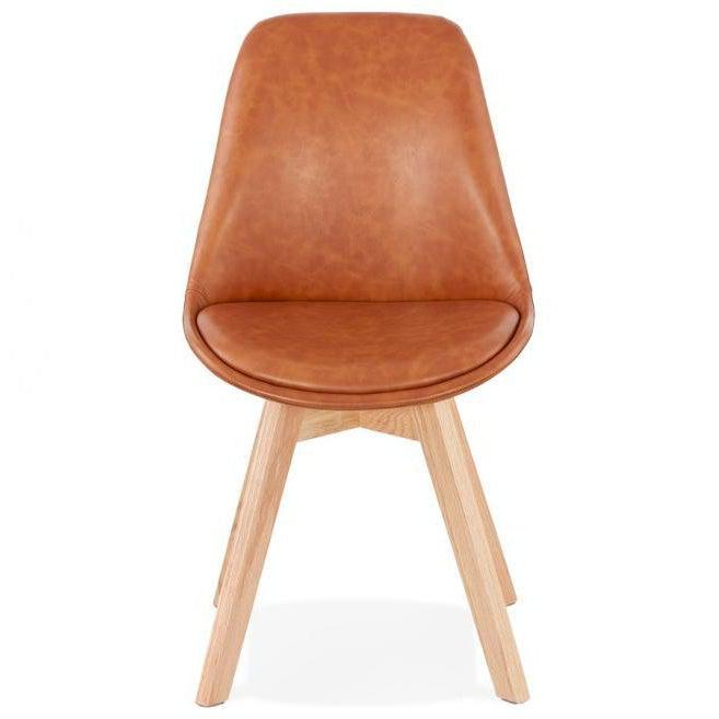 Romero Leather Dining Chair-I Love Retro