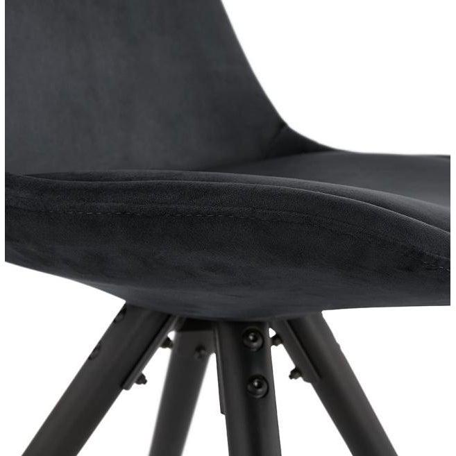 Romero Velvet Slim Black Leg Dining Chair-I Love Retro