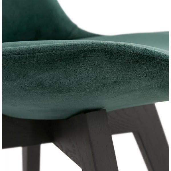 Romero Velvet Black Leg Dining Chair-I Love Retro