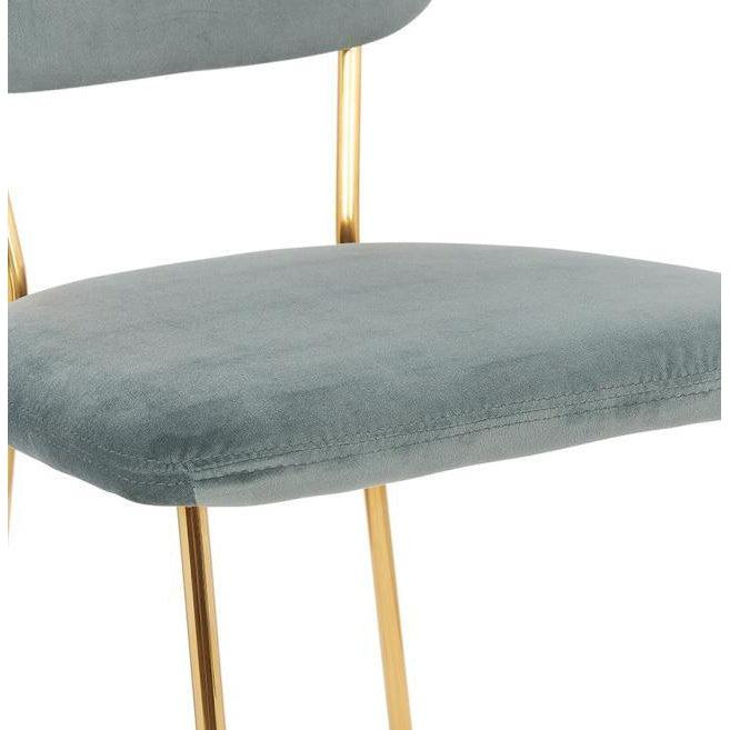 Selena Velvet Slim Gold Leg Dining Chair-I Love Retro