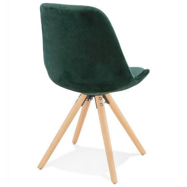 Romero Velvet Slim Oak Leg Dining Chair-I Love Retro