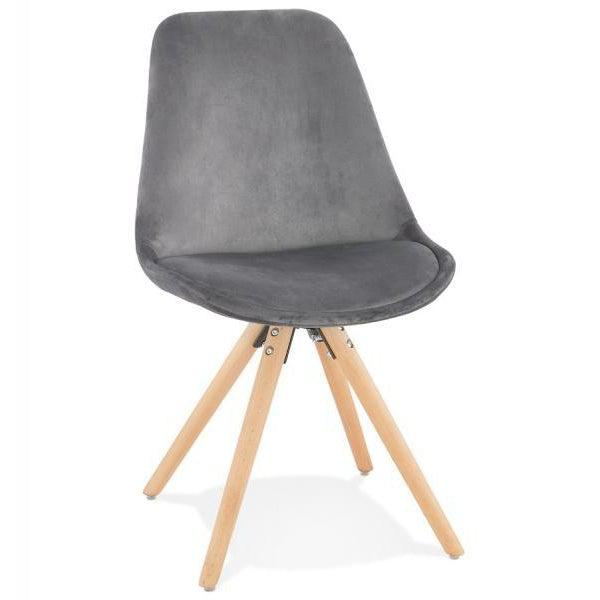 Romero Velour Slim Oak Leg Dining Chair-I Love Retro