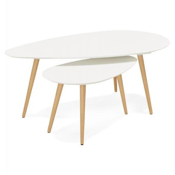 Krona Two Retro Nest Side Tables-I Love Retro