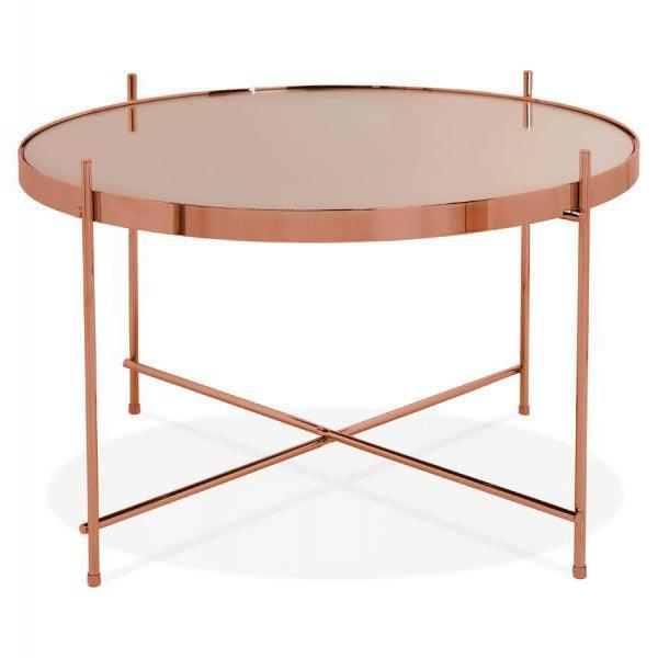 Layla Round Mirrored Coffee Table-I Love Retro