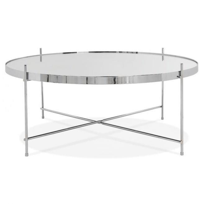 Layla Large Round Mirrored Coffee Table-I Love Retro