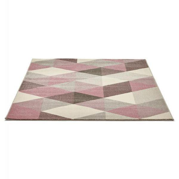 Vello Geometric Rug Pink-I Love Retro