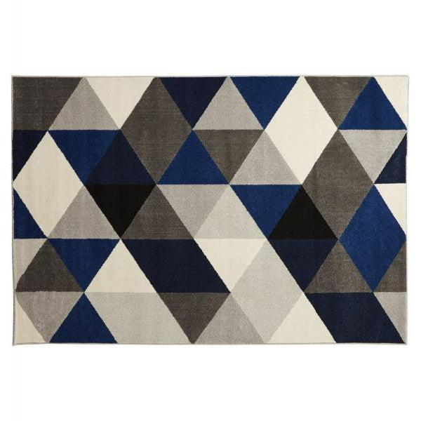 Vello Geometric Rug Blue-I Love Retro