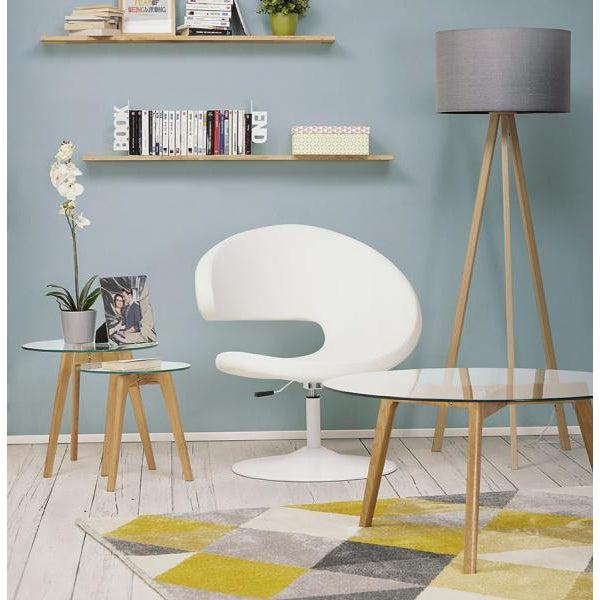 Vello Geometric Rug Yellow & Grey-I Love Retro